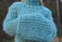 Blue thick Sweater