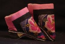 China :: Lotus Slippers / This board is a gentle reminder that we are not so different today in our beauty restrictions...These tiny slippers can be appreciated in their embroidery and master craftsmanship.