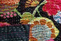 Textile :: Kantha Quilts / Kantha stitching is also used to make simple quilts, commonly known as Nakshi Kantha. Old saris and cloth and layer them with kantha stitch to make a light blanket, throw or quilt.
