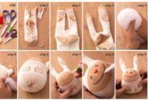 Knutselen met stof / Knutseltips waarbij je gebruik kunt maken van draad en/of stof.