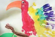 Knutselen en creatief met verf / Creatieve ideeën en knutseltips met verf. Leuk om thuis of op school te doen.