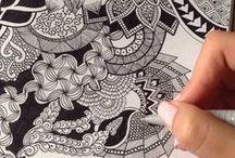 Doodles tekenen / Inspiratie , tips en trucs om doodles te tekenen
