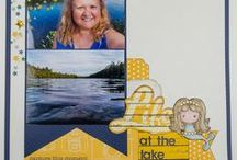 Embellishment Clusters on a Scrapbook Layout / Embellishment clusters are so much fun to make.  Here are some ideas for making your own embellishment clusters.
