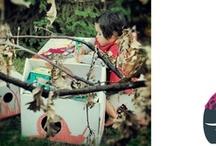 """.:· juguetes de cartón ·:. / Los materiales de estos """"espacios para soñar"""" son cariñosos con los aventureros que se atreven a explorarlos y con la naturaleza."""
