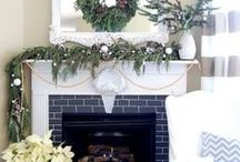 Holiday Mantel Decoration Ideas / Here are some beautiful Holiday Mantel, table top, piano top, buffet top whatever works in your home - ideas for decorating this holiday!