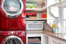 Laundry Room Makeover / Looking to change your laundry room? Always good to start with some Pinterest Inspiration and decide what you need, want & love!