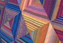 Art - Quilts - Striped Fabric Ideas / by Sharon Robinson
