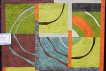 Art - Quilts - Curves and Circles / Piecing circles is a lot harder than it looks.  Even big circles and arcs.  / by Sharon Robinson