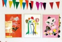 Kids Art Area / If you have a kid, you know they make art. LOTS of art! Wonderful! With a few simple items, it's easy to create an art space just for them.