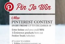 Week 1 Pin To Win Festive Treats Contest / Pin for a chance to win #Éminence Organics Festive Treats. New #contest every Friday up to December 18. / by Eminence Organic Skin Care
