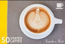 50 States 50 Lattes / Our LOVE for coffee shop experiences and amazing lattes with beautiful latte art included has us on a mission to experience 50 lattes in 50 states!