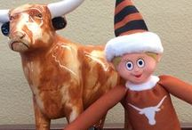 Burnt Orange Holiday Helper Elf / Our Holiday Helper Elf will help keep your kids on their best behavior heading up to Christmas :) . Spice up your classic Elf on the Shelf scenarios with a Texas Longhorn version!  Maybe he can inspire you to have some football or Longhorn-themed hiding places every morning. Here's a board for some inspiration.   Use #BurntOrangeElf on your Pinterest board to have your Elf featured!   / by University Co-op