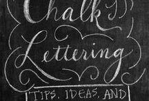 Chalk Board Art, Lettering