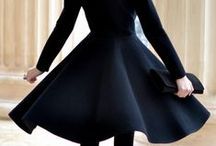 Black on Black / Stylists wear black 99% of the time. But, black on black is never boring. Here are some fashions that keep black looking anything but basic.