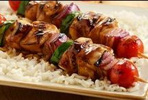 Grilling In Any Season! / From kabobs to steak, so many grilling-season delights are even better when served over rice. Here are some delicious recipes to keep you busy all summer long.
