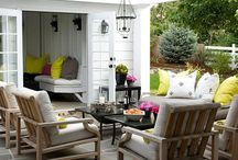 Outdoor Decor and Curb Appeal / Decorating outdoors and landscape. Including curb appeal, exterior home colors and design, outdoor patios, decks, seating, entertaining, etc