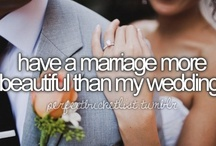 Bucket List / Everybody has a Bucket List! Some of these I have already done, like marry my best friend <3 / by Melanie Miller