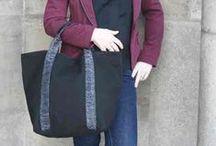 "Nos sacs ""GSELL"" chéris... / En toile, en cuir, bicolore..."