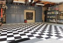 Garage Organization and Decor / Tips and tricks for organizing the garage. Making a garage part of the home with decor.