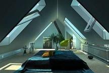 Poddasze/ roof space/attic / Poddasze w oferowanym przez nas domu do sprzedaży - ma do zagospodarowania 24m2 i 1,9m wysokości! Większość z inspiracji z tej tablicy można swobodnie tam wykonać- nawet łazienkę czy kuchnię!