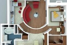 Studio Apartment/ Kawalerka / Co z tego, że metrów 30 lub 40 - liczą się możliwości i pomysły! Na niewielu metrach wiele można!