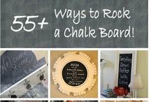 Tablica /Chalkboard / Wiele inspiracji i zastosowań dla farby tablicowej ;)
