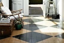 Floors Design / Flooring ideas from wood, tile, painted, stained, and more