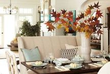 Fall Decorating / Fall decor for the home. Pumpkins, cozy blankets, tables settings, outdoor decor, etc