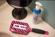 Fashion Print Paddle Brushes / What girl doesn't love monogrammed brushes?