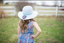 Wide Brimmed Floppy Hats / Perfect for some monogrammed fun in the sun