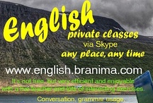 Online English classes / Online English lessons via Skype with a live teacher, any place, any time.
