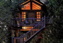 Tree Houses / This board is all about my dream of owning a treehouse sometime in the near future. Picking out the land, picking out the site and being ready to get it built. Pete Nelson, get ready!