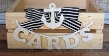 Baby Shower - Nautical / Fun Nautical BOY baby shower ideas with anchors, whales, beach scenes, stripes. Fun ideas include nautical baby shower party cake ideas for your dessert table, DIY decor, blue + gray invitations, fun games for guests, ideas for creative DIY baby shower favors. Lots of inspirational, free and on-a-budget party ideas.
