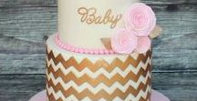 Chevron Baby Shower Ideas / Have you heard?  Chevron is IN =)  Make a clear style statement at your baby shower with these chevron theme tips, tricks and invitations from The Invite Lady.