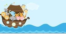 Baby Shower - Noah's Ark / Two by two or one by one, babies can be so much fun! Planning a Noah's Ark themed baby shower?  The Invite Lady brings together a collection of all things Noah's Ark from invitations to blessings for baby, and shower games to advice for the mommy-to-be.