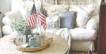 Patriotic Home Decor / Hi friend! Welcome to The Military Wife Life Patriotic Home Decor board. Here you'll find inspiration to show off your patriotism and military support in your home.