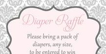 Baby Shower - Damask / All the ideas for a damask baby shower or for girl parties. DIY and decoration ideas including damask diaper cakes in black and white, baby shower damask products (some with polka dots!), Baby shower damask pink grey color combinations, and other ideas to throw a shabby chic baby shower party for a new mom to be!