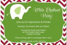 SHOP Christmas Cards / Christmas cards, Christmas party invites for kids and adults, White elephant parties and more