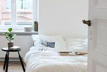 Monochrome & colorful Bedroom ideas / by Susan Mernit