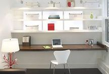 The home office/workspace/storage ideas / by Susan Mernit