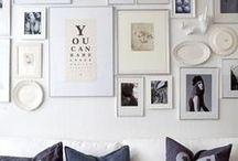 Halls, walls, frame ideas / by Susan Mernit