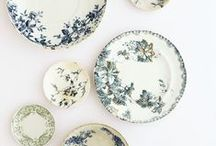 Transferware and floral china / Admiring beautiful china and porcelain / by Susan Mernit