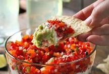 Salsas + Dips / The yummiest salsas and dips for your summer parties! / by SoupAddict