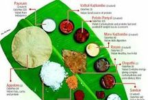 Thali / Indian meals, often for festive occasions