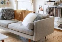 Living Room Decor and Style Ideas / Design and decor idea board for living spaces and furniture! Living Room Decor. Living Room Ideas. Living Room Style Boards. Living Spaces.