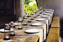 fine dining  / i love throwing a dinner party, and dream about setting long tables with flowers and runners