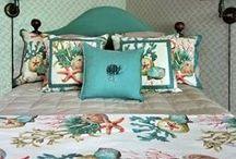 Coastal Style / Coastal Decor - bedding, pillows and accessories