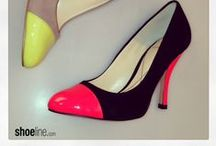 NEON #trends / Neon sandal styles that will have you sizzling. #trends / by Shoeline.com ♥