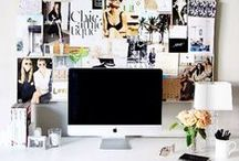 O F F I C E ♡ / Have a great, organized and glam work space that way you'll wanna be there.  / by Samantha St. Clair