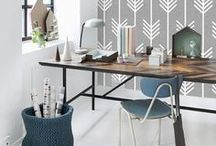 Home Office Decor and Style Ideas / Design and decor ideas for a craft room or home office! Home Office Decor. Home Office Ideas. Home Office Organization. Home Office Style Boards.